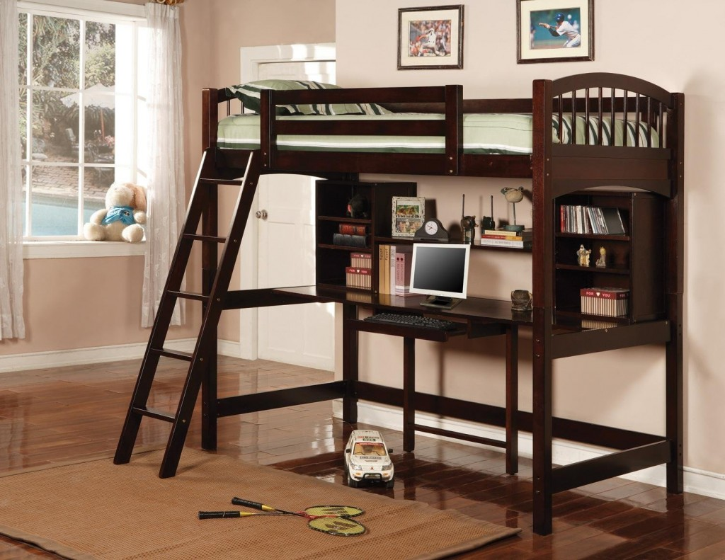 High Quality A Loft Bed With Desk Underneath: The Perfect Space Saving Solution